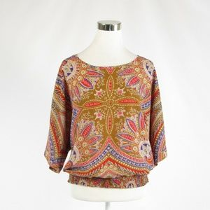 New York & Company light brown red blouse S